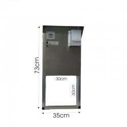 Αυτ. πόρτα για κοτέτσι - Premium 12V inox